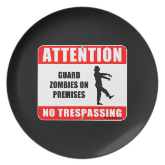 Guard Zombies Plate