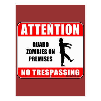 Guard Zombies Postcard