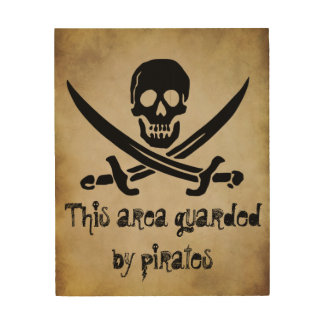 Guarded by Pirates Door Sign