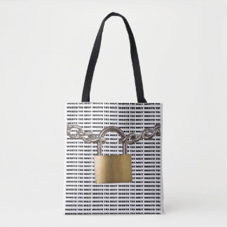 Guarded/Worth The Wait Print Tote