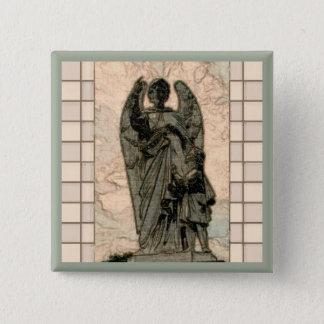 Guardian angel 15 cm square badge