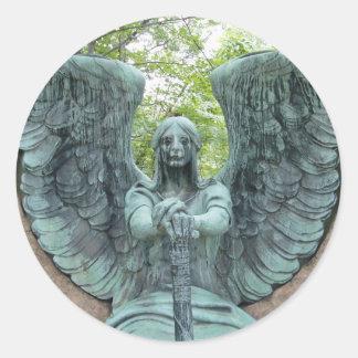 Guardian Angel 2 Classic Round Sticker