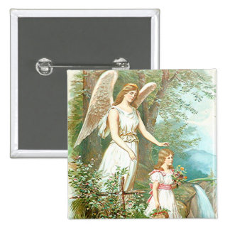 Guardian Angel And Girl Pinback Buttons