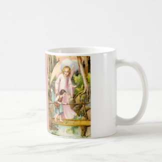 Guardian angel and girl basic white mug