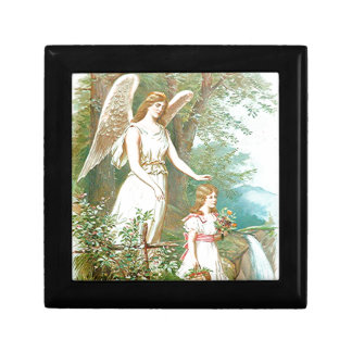 Guardian Angel And Girl Jewelry Box