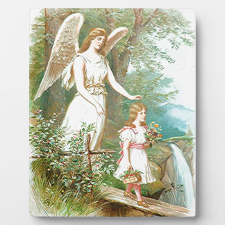Guardian Angel And Girl Photo Plaque