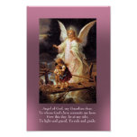 Guardian Angel and Two Children Poster