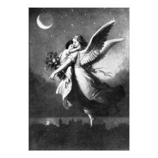 Guardian Angel At Night Photo Art