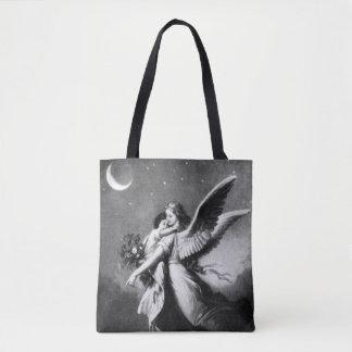 Guardian Angel At Night Tote Bag