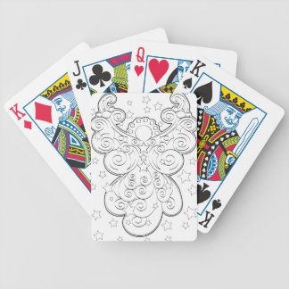 Guardian angel bicycle playing cards