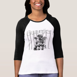 Guardian angel black white personalized T-Shirt