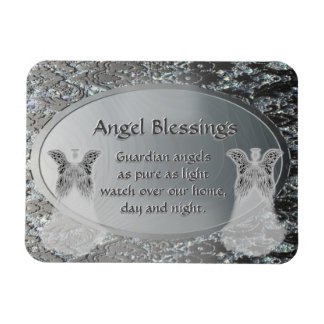 Guardian Angel Blessings Rectangular Photo Magnet