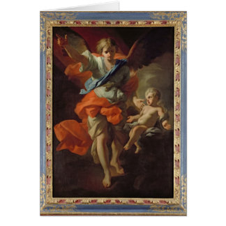 Guardian Angel, c.1685-94 Greeting Cards