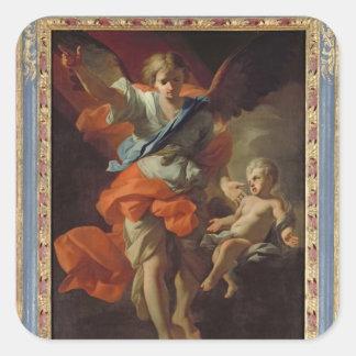 Guardian Angel, c.1685-94 Square Sticker