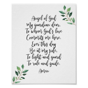 photograph about Guardian Angel Prayer Printable named Dad or mum Angel Prayer Items upon Zazzle AU