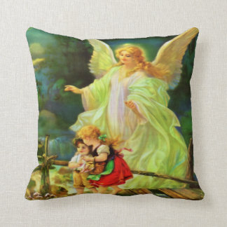 Guardian Angel & Children Pillow