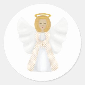 Guardian angel classic round sticker