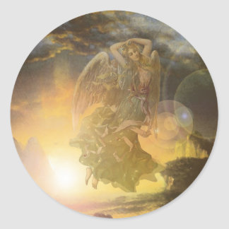 Guardian Angel Coast Classic Round Sticker