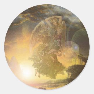 Guardian Angel Coast Round Sticker