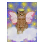 Guardian Angel of Cats Print