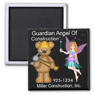 Guardian Angel of Construction by SRF Square Magnet
