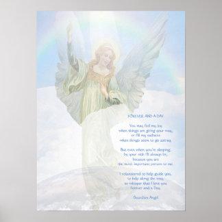Guardian Angel Poem Poster