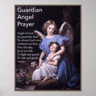 Guardian Angel Prayer for Girls Poster