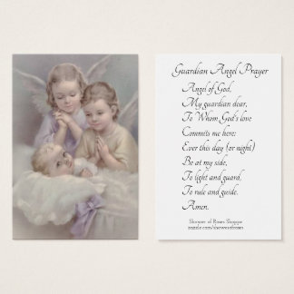 Guardian Angel Prayer Holy Card