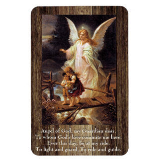 Guardian Angel Prayer Rectangular Photo Magnet
