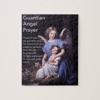 Guardian Angel Prayer with Girl Puzzle