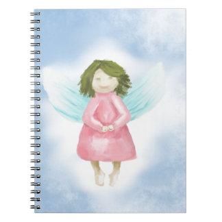 Guardian angel spiral notebook