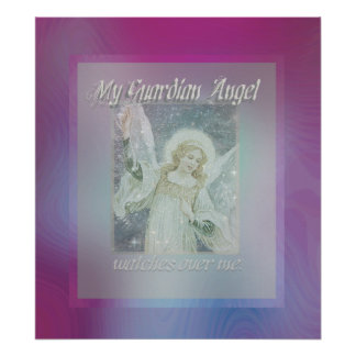 Guardian Angel Watching Over You Poster