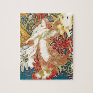 Guardian Angel with Child in Flower Garden Jigsaw Puzzle