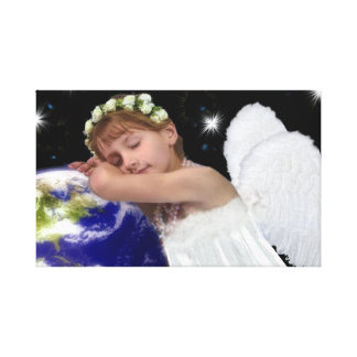 Guardian Angel wrapped canvas