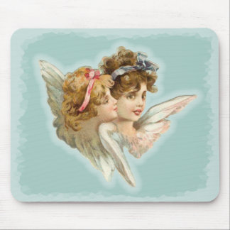 Guardian Angels Victorian Vintage Mouse Pad