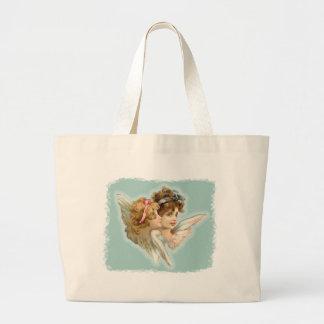 Guardian Angels Victorian Vintage Tote Bag