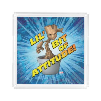Guardians of the Galaxy | Baby Groot Attitude Acrylic Tray