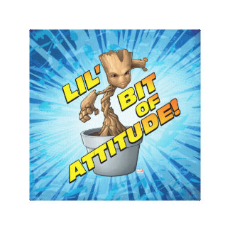 Guardians of the Galaxy | Baby Groot Attitude Canvas Print