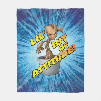 Guardians of the Galaxy   Baby Groot Attitude Fleece Blanket