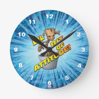 Guardians of the Galaxy | Baby Groot Attitude Round Clock