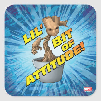 Guardians of the Galaxy | Baby Groot Attitude Square Sticker