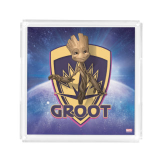 Guardians of the Galaxy | Baby Groot Crest Acrylic Tray