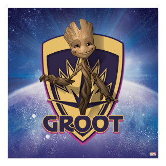 Guardians of the Galaxy | Baby Groot Crest Poster
