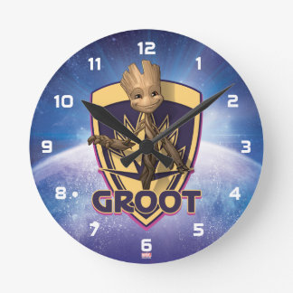 Guardians of the Galaxy | Baby Groot Crest Round Clock