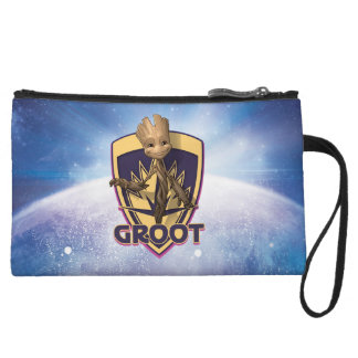 Guardians of the Galaxy | Baby Groot Crest Wristlet Purse