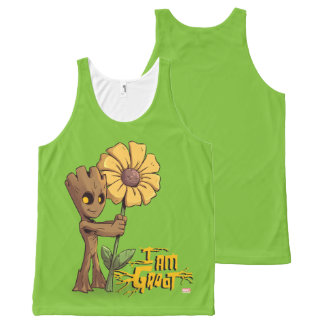 Guardians of the Galaxy | Baby Groot & Daisy All-Over Print Singlet