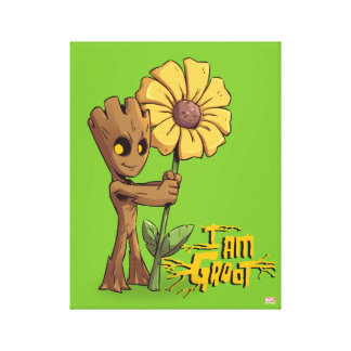 Guardians of the Galaxy | Baby Groot & Daisy Canvas Print
