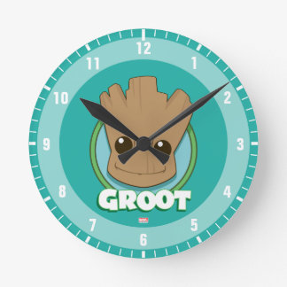 Guardians of the Galaxy | Baby Groot Face Round Clock