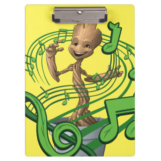 Guardians of the Galaxy | Baby Groot Music Notes Clipboard