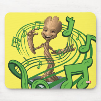 Guardians of the Galaxy | Baby Groot Music Notes Mouse Pad